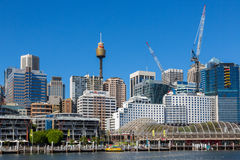 Darling Harbour adjacent to the city centre of Sydney Stock Photos