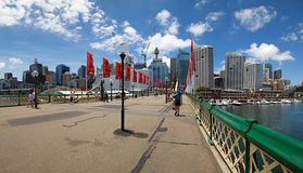 Darling Harbour bridge Royalty Free Stock Photos