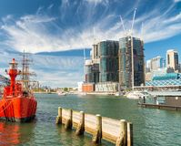 Darling Harbour buildings on a beautiful sunny day - Sydney, Aus. Tralia Stock Photos