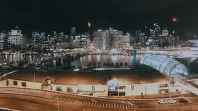 Darling Harbour Day To Night-Cityscape Timelapse met Horizon Sydney Australia stock video
