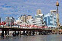 Darling Harbour, de haven van Sydney, Australië Stock Fotografie