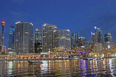 Darling Harbour, de haven van Sydney, Australië Royalty-vrije Stock Afbeelding