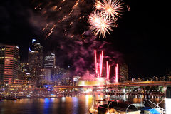 Darling Harbour Fireworks Stock Foto's