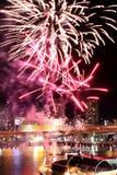 Darling Harbour Fireworks. Fireworks at Darling Harbour Sydney, Australia Royalty Free Stock Image