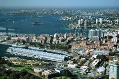 Darling Harbour il lato di Industiral Immagini Stock Libere da Diritti