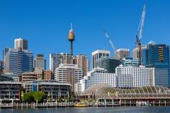 Darling Harbour naast het stadscentrum van Sydney Stock Foto's