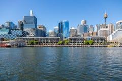 Darling Harbour naast het stadscentrum van Sydney Royalty-vrije Stock Fotografie