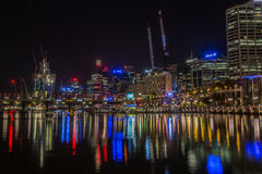 Darling Harbour at night Stock Photos