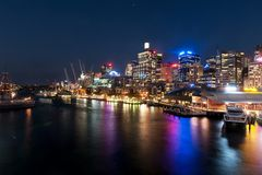 Darling Harbour night scene Stock Photo