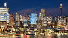 Darling Harbour nightscape Royalty Free Stock Photo