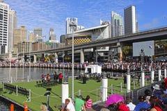 Darling Harbour no dia de Austrália, Sydney Fotografia de Stock
