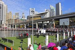 Darling Harbour på den Australien dagen, Sydney Arkivbild