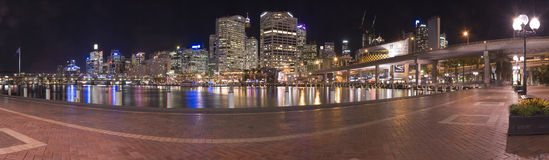 Darling harbour panorama Royalty Free Stock Image