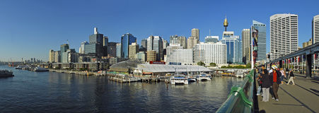 Darling Harbour panorama Royalty Free Stock Images