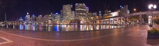 Darling harbour panorama Royalty Free Stock Photo