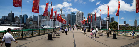 Darling Harbour Panorama Stock Image