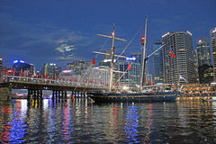 Darling Harbour, porto de Sydney, Austrália Fotografia de Stock Royalty Free