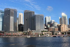 Darling Harbour, porto de Sydney, Austrália Foto de Stock Royalty Free