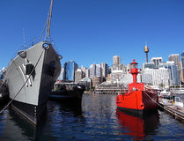 Darling Harbour - ships, Sydney, Australia Royalty Free Stock Photography