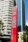 Darling Harbour Sign - Sydney - Australien lizenzfreies stockbild