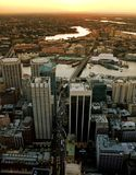 Darling Harbour in Sydney. Photo taken from Sydney tower Stock Photography