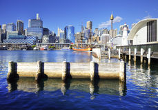 Darling Harbour Sydney Australia. Darling Harbour, Sydney, Australia, on a bright sunny day Royalty Free Stock Photos