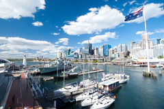 Darling Harbour in Sydney, Australia. Stock Photo