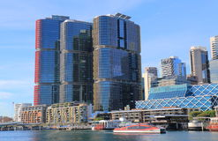 Darling Harbour Sydney cityscape Australia. Darling Harbour in Sydney cityscape Australia Stock Photos
