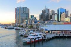 Darling Harbour Sydney cityscape Australia Stock Images