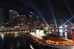 Darling Harbour Sydney hamn, Australien Arkivfoton