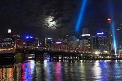 Darling Harbour Sydney hamn, Australien Royaltyfria Bilder