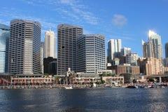 Darling Harbour Sydney hamn, Australien Royaltyfri Foto