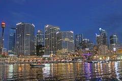 Darling Harbour Sydney hamn, Australien Royaltyfri Bild