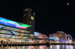 Darling Harbour Sydney night cityscape Australia Royalty Free Stock Photo
