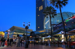 Darling Harbour Sydney night cityscape Australia Royalty Free Stock Photography