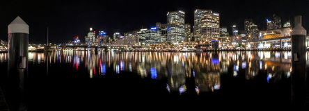 Darling Harbour Sydney Panorama Royalty-vrije Stock Foto's