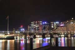 Darling Harbour Cockle Bay at night Royalty Free Stock Images