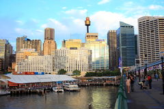 Darling Harbour at evening hour Stock Image