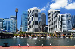 Darling Harbour View 2. Shot taken on the other side of Darling Harbour Sydney overlooking sydney city scape Stock Photography