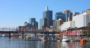 Darling Harbour view, Sydney stock photos