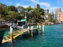 Darling Point Ferry Wharf, port de Sydney, Australie Photographie stock