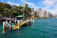 Darling Point Ferry Wharf, Sydney harbour, Australia. Royalty Free Stock Photo