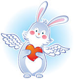 Darling rabbit with wings Stock Photography