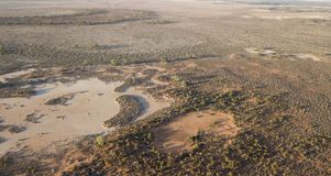 Darling river flood plains stock photo