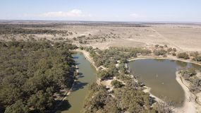 Darling river in western New South Wales, ASustralia. stock image