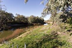 Darling River in Wilcania stock afbeeldingen