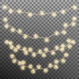 Darlings hearts garland lights. EPS 10 vector Stock Image