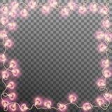 Darlings hearts garland lights. EPS 10 vector Royalty Free Stock Photography