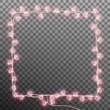 Darlings hearts garland lights. EPS 10 vector Royalty Free Stock Images