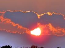 Darlington Park la puesta del sol 2015 Foto de archivo libre de regalías